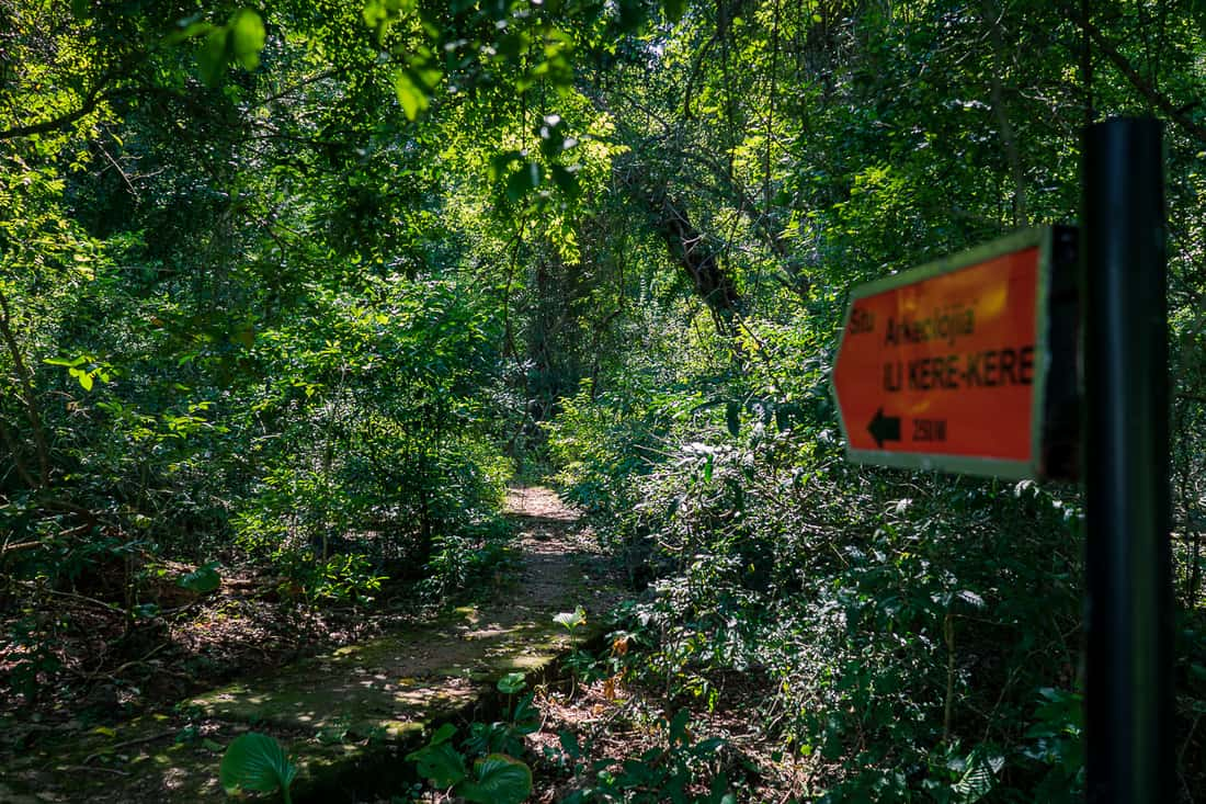 Path to Kere Kere rock paintings, Tutuala, East Timor