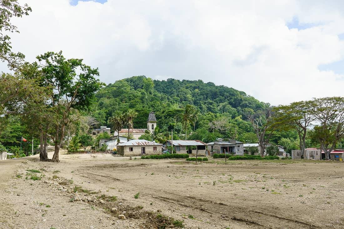 Tutuala church and main square, East Timor