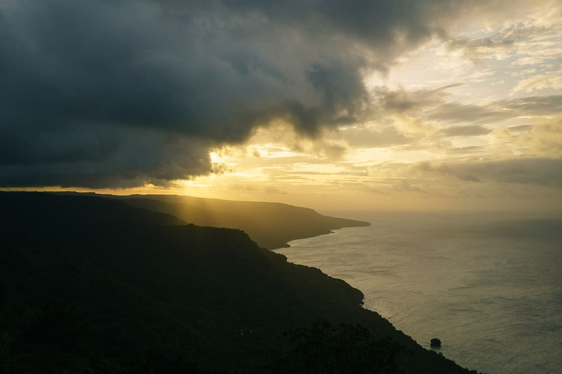 Sunset on the Northeastern East Timor coast as seen from Pousada Lautem in Tutuala