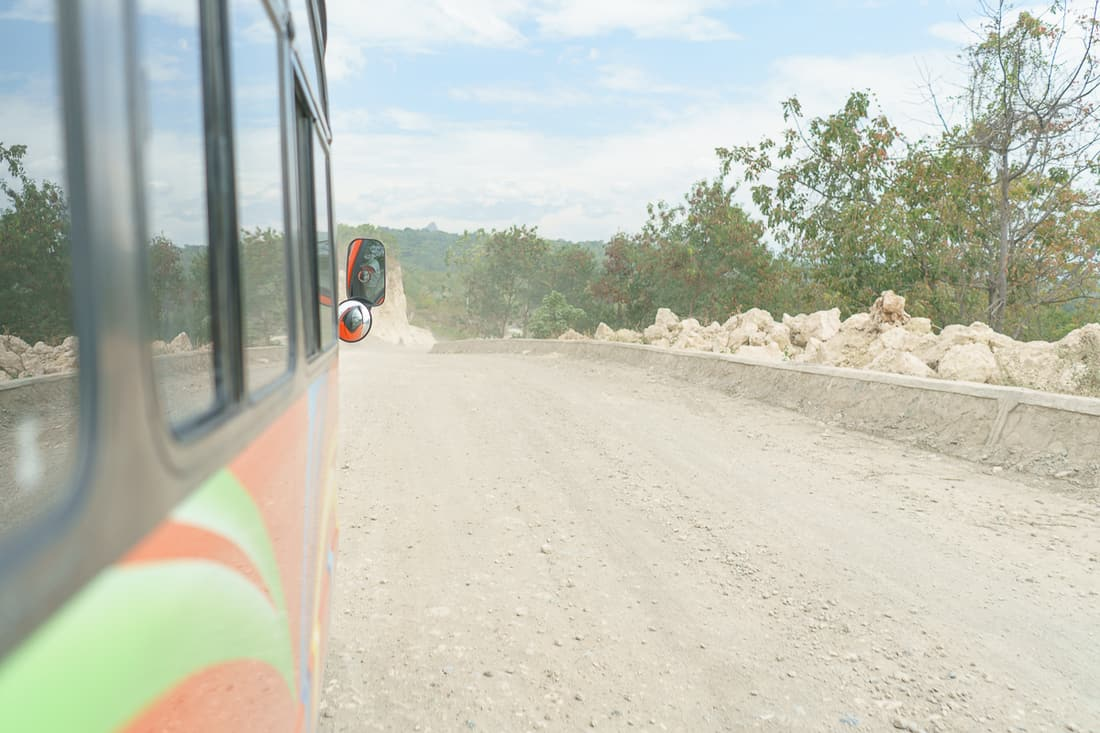Bus on the road to Baucau, East Timor