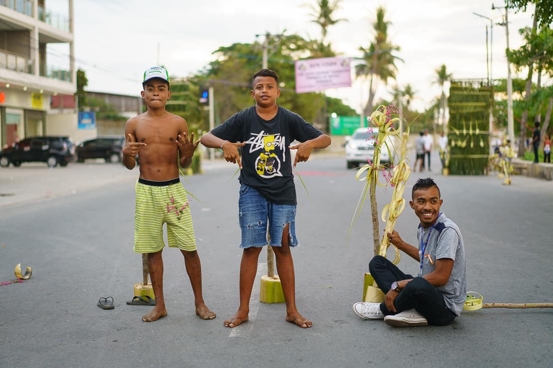 Young men after Saint Anthony procession Dili, East Timor