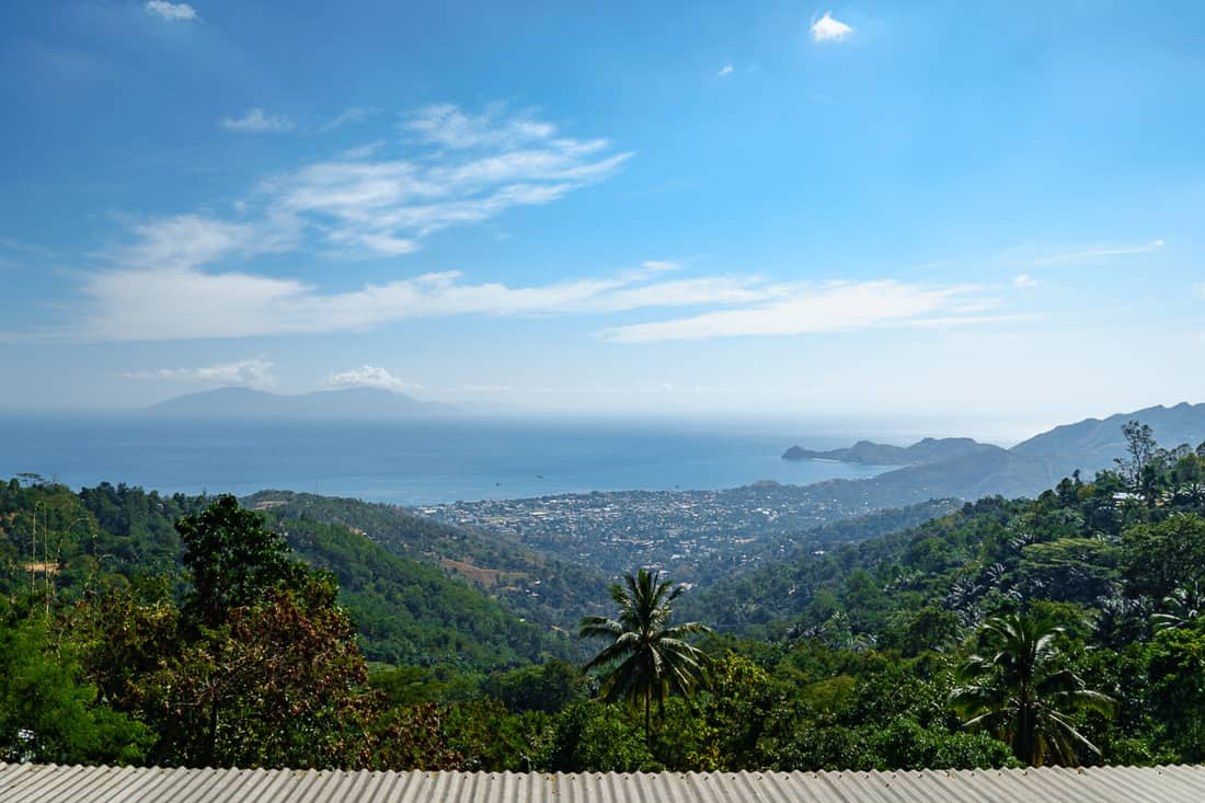 Panorama view from Dare onto Dili, East Timor