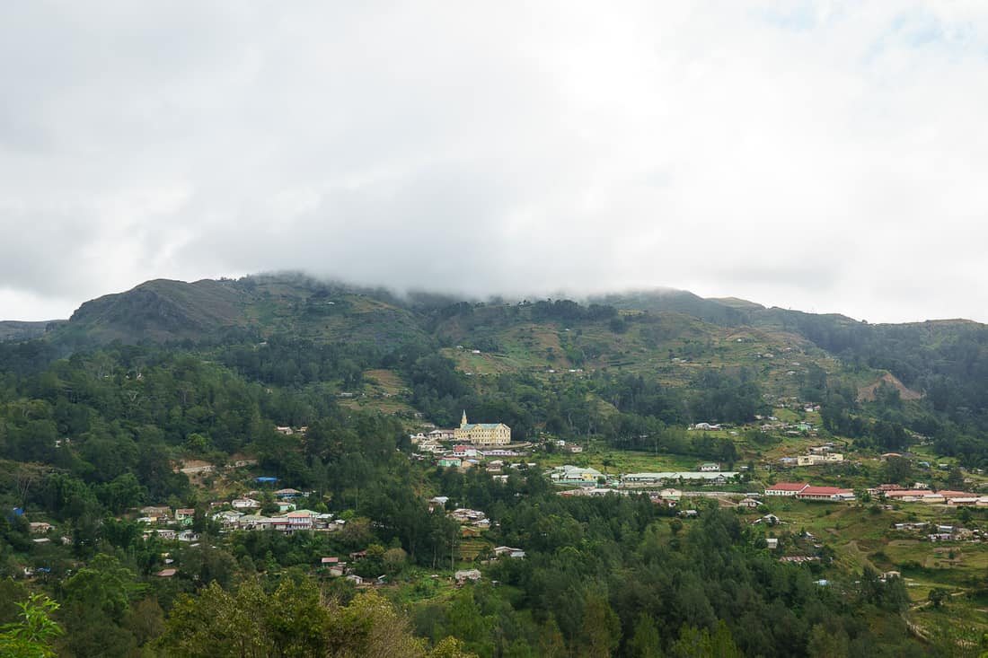 View of Maubisse from the pousada, East Timor