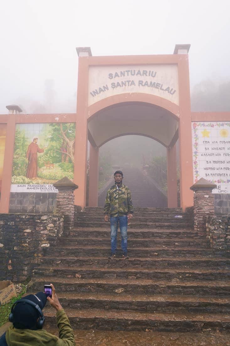 Gate to Mt. Ramelau ascent, East Timor