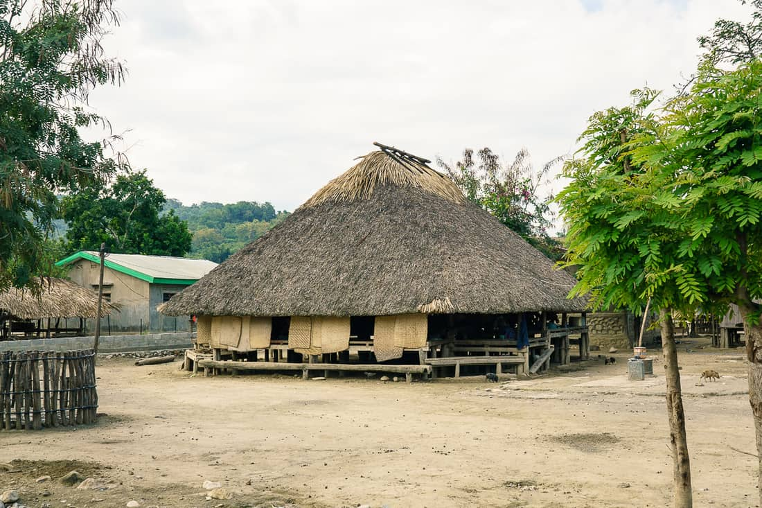 Suai traditional family house, East Timor