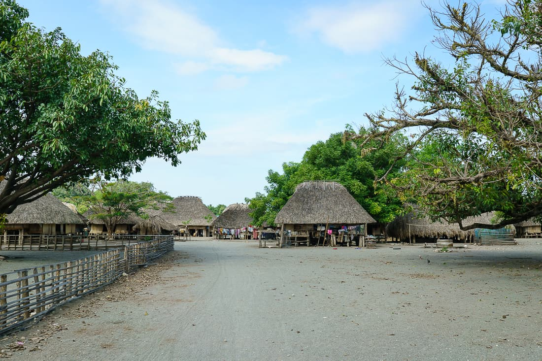 Traditional homestead at Suai Loro village, East Timor