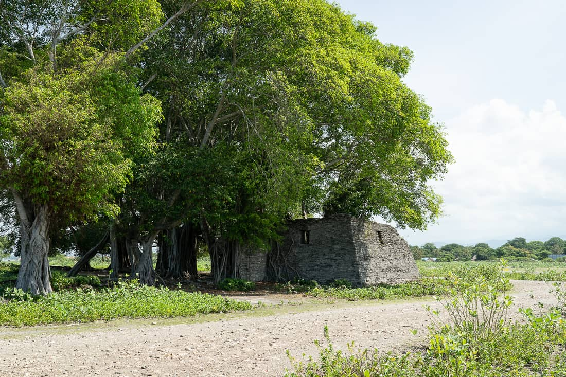 Portuguese fort ruins at Suai beach, East Timor