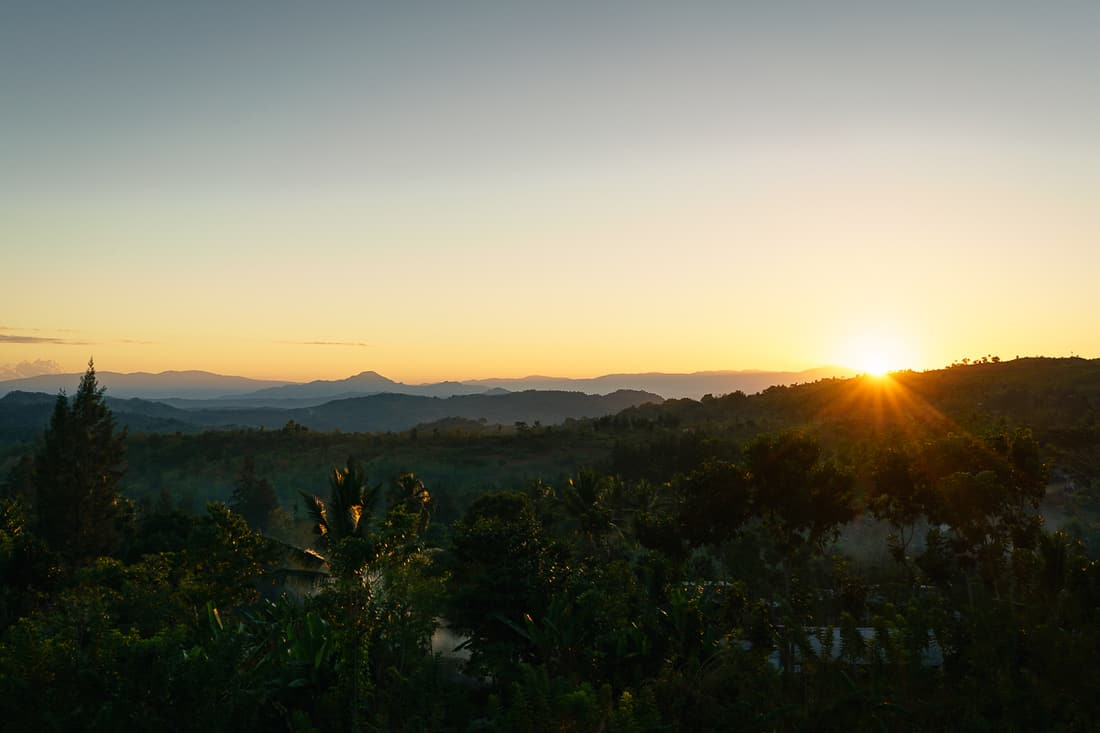 Sunrise seen from Balibo Fort, East Timor