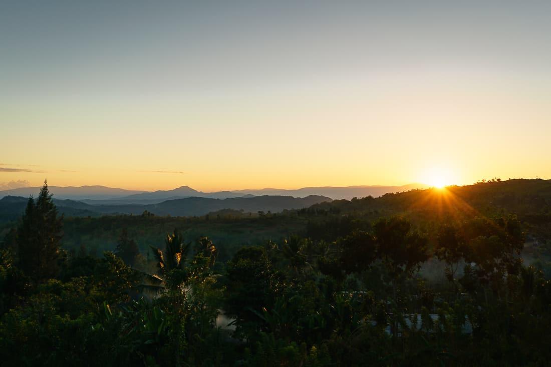 Sunrise seen from Balibo Fort, East Timor