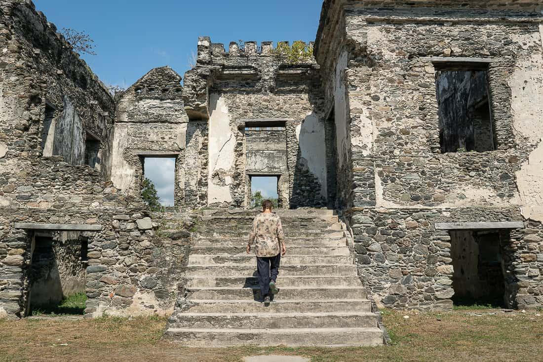 Carola at Ai Pelo prison, Liquica, East Timor