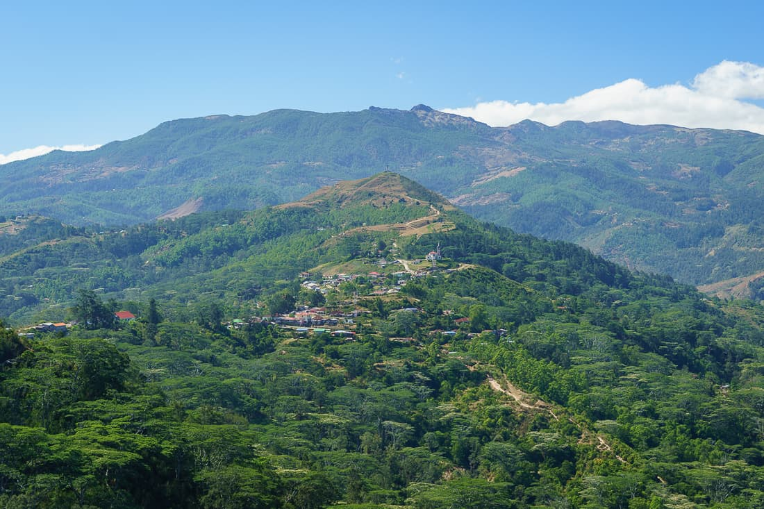 View of Letefoho, East Timor