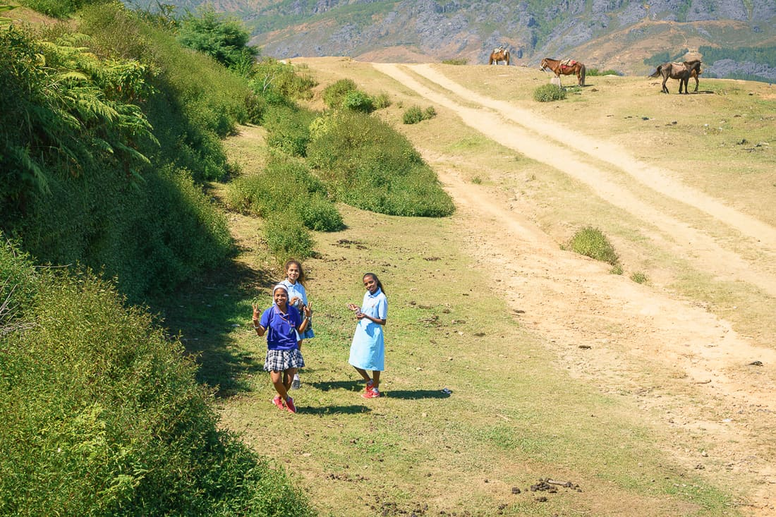 Girls in Letefoho, East Timor