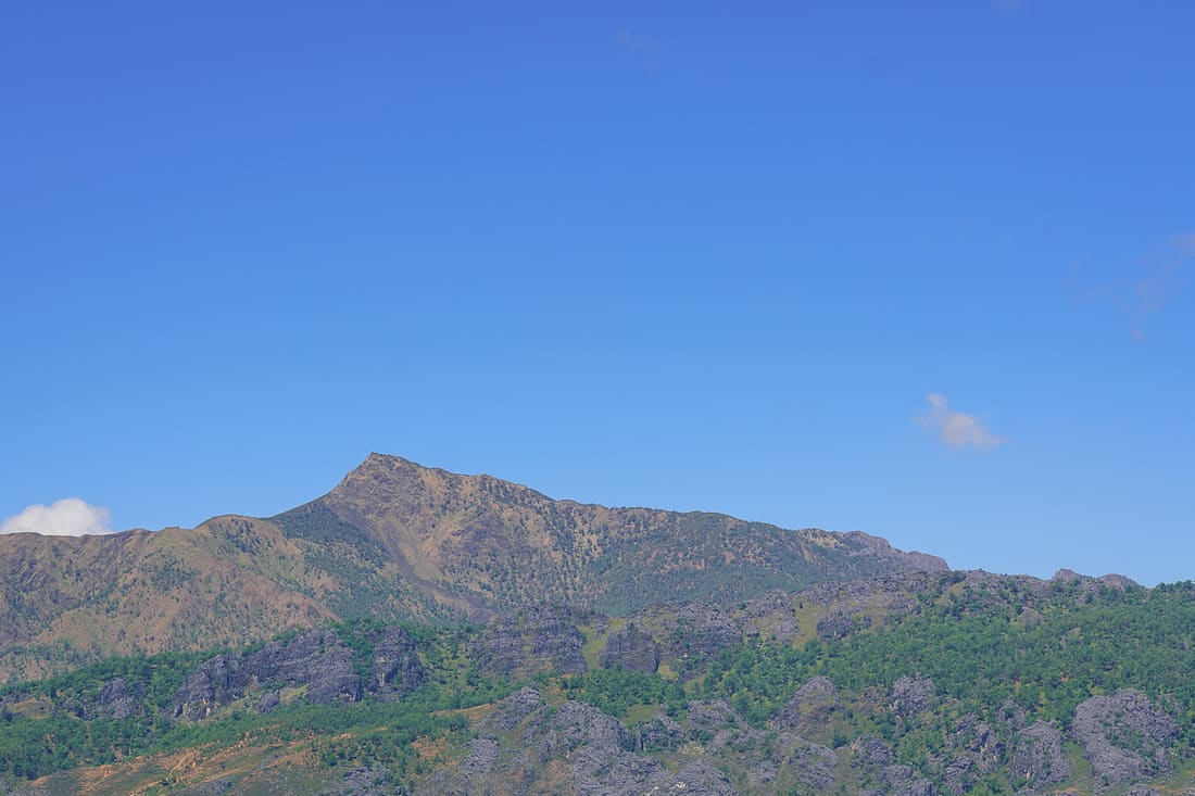 Mt. Ramelau as seen from Christo Rei do Letefoho, East Timor