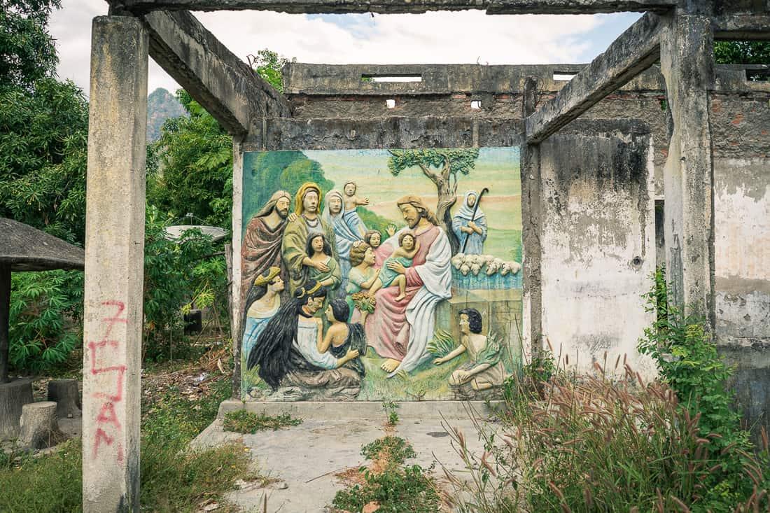 Mural in Pante Macassar, Oecusse, East Timor