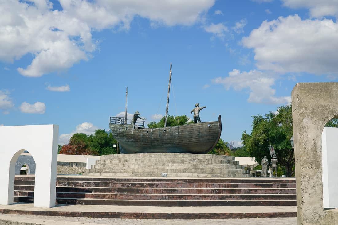 Lifau memorial outside Pante Macassar, Oecusse, East Timor