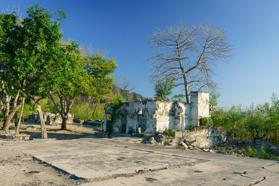 Faot Sub prison ruin, Pante Macassar, Oecusse, East Timor