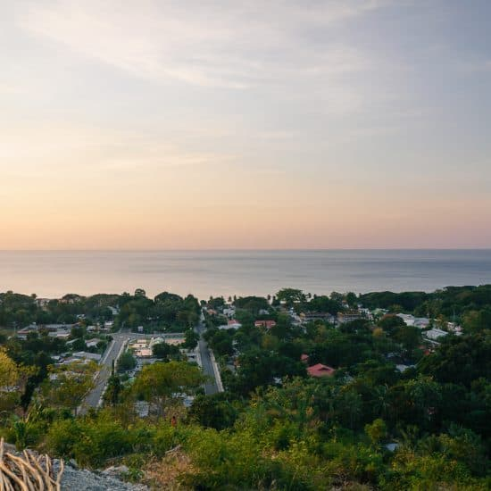 Sunset in Pante Macassar from Faot Sub prison ruin, Oecusse, East Timor