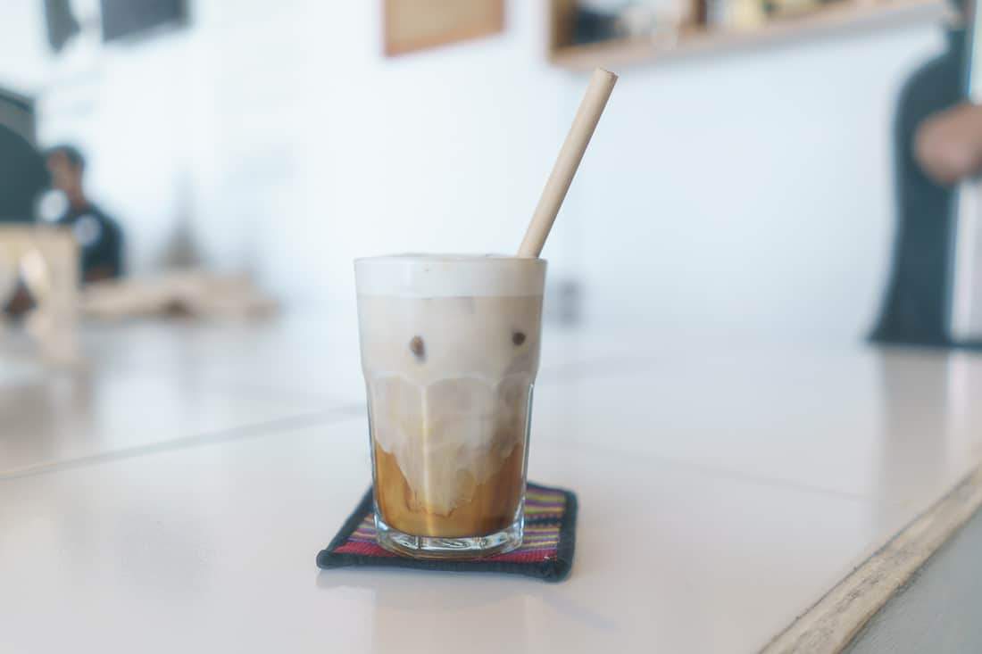 Latte Macchiato at Letefoho coffee shop, Dili, East Timor