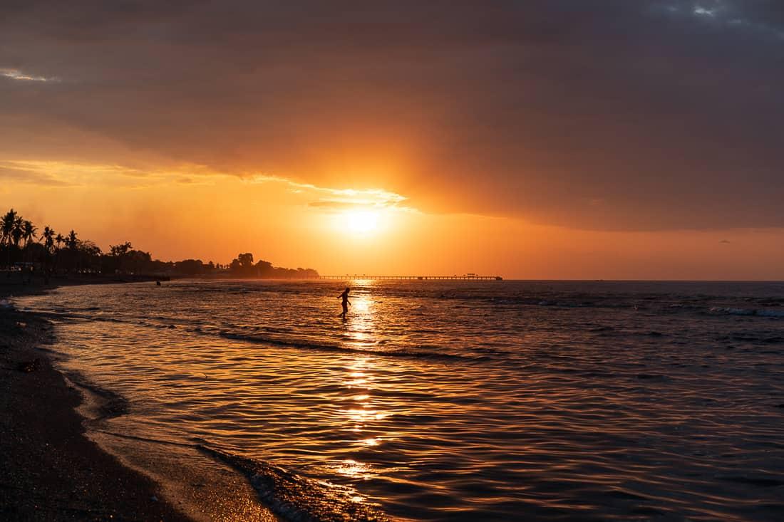Sunset over Dili beach, East Timor